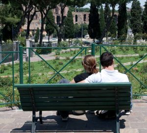 visita al roseto di roma