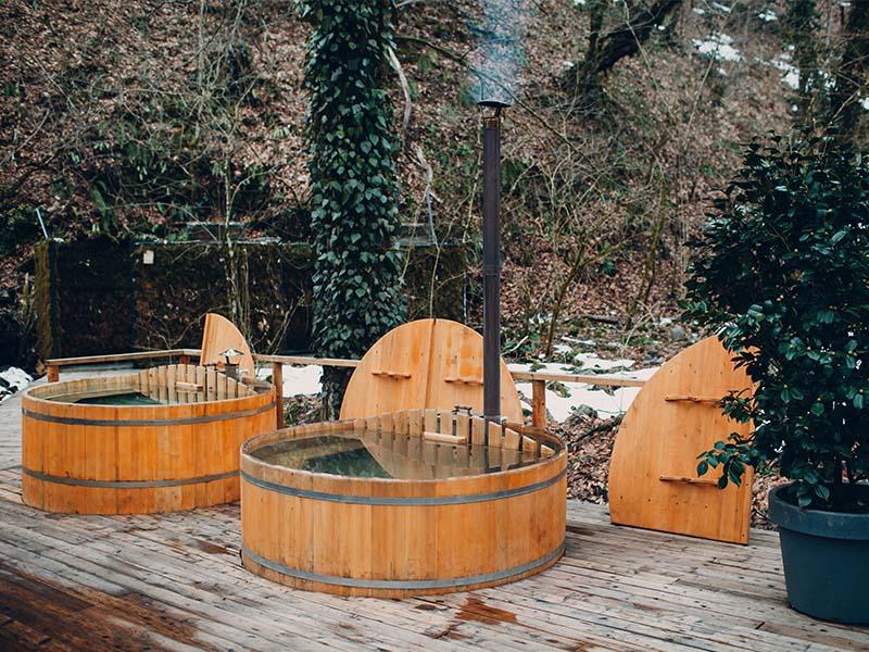 sauna glamping